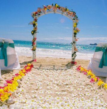 best beach wedding aisle decoration