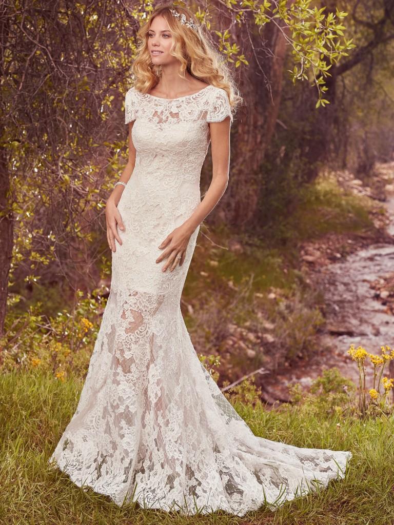white beautiful wedding dress