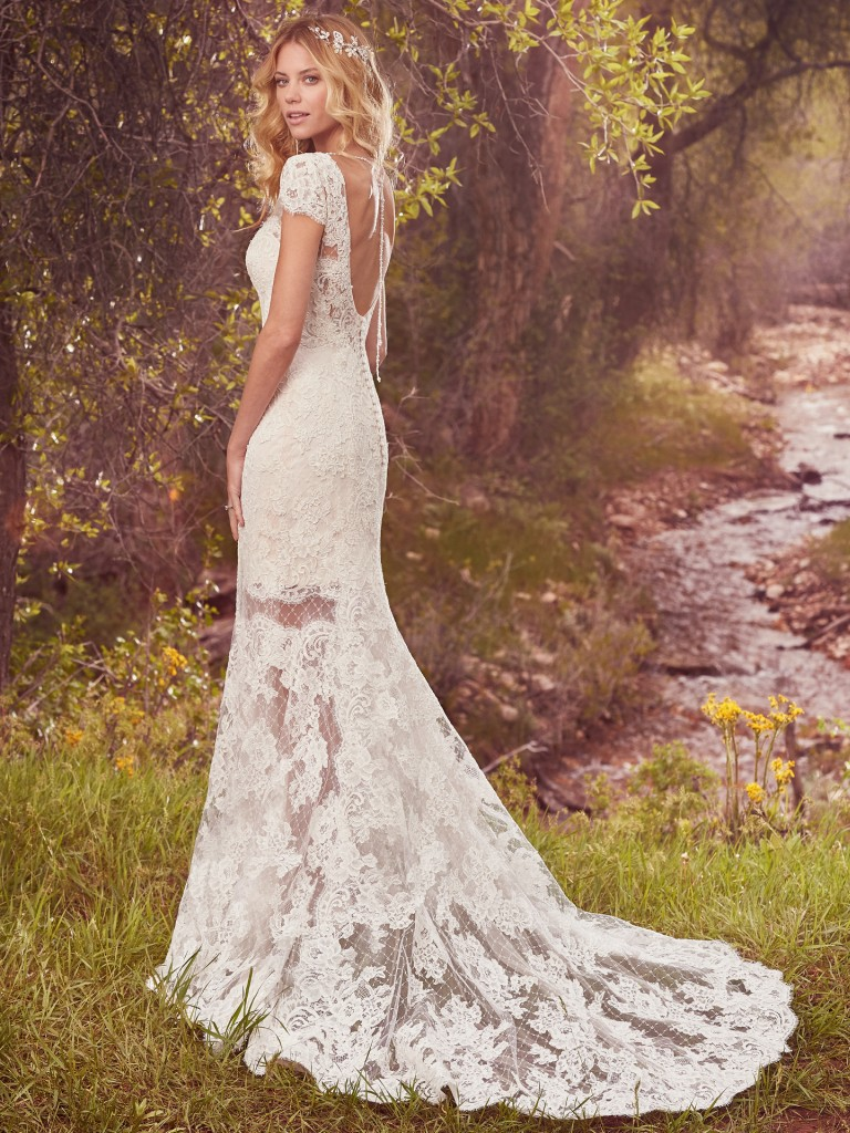 sexy elegant white wedding dress