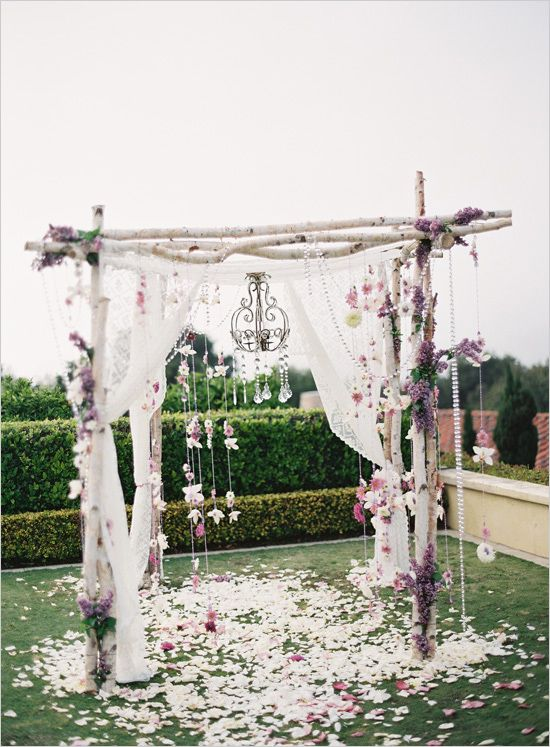 simple and beauty wedding altar