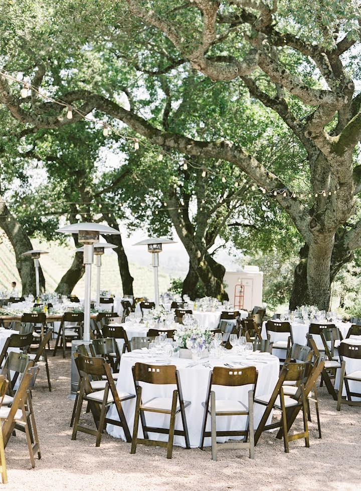 simple rustic wedding table