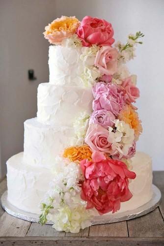 butter rustic wedding cake