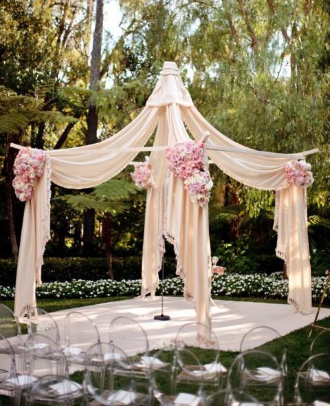 pink wedding arch design