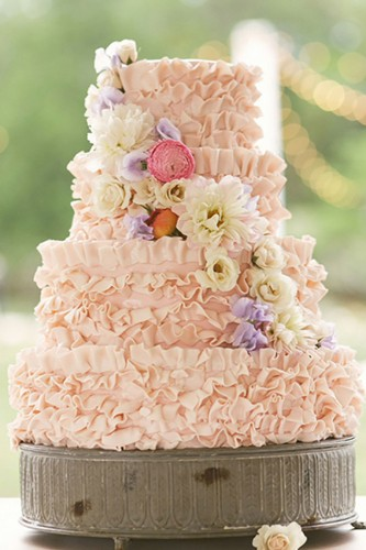 perfect rustic buttercream wedding cake