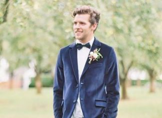 fashion man wedding attire