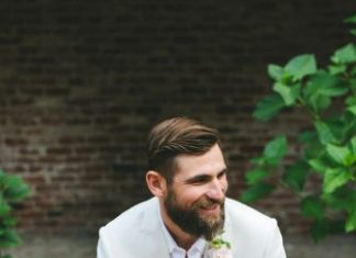 elegant wedding attire