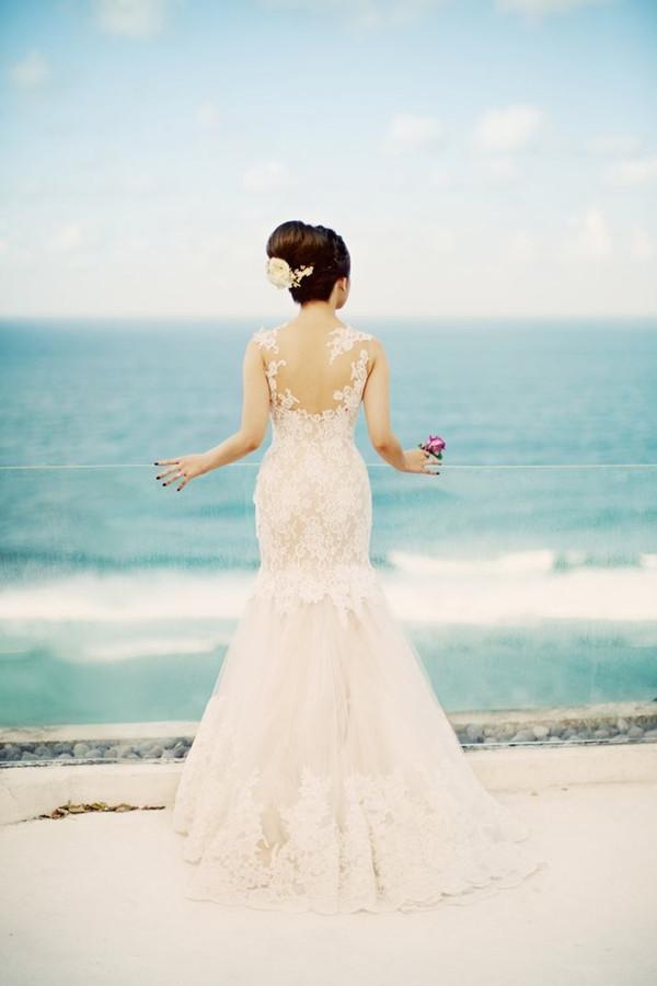 simple mermaid wedding dress