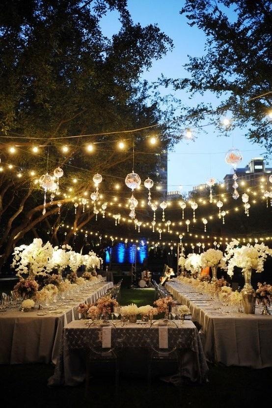 beautiful night vintage wedding