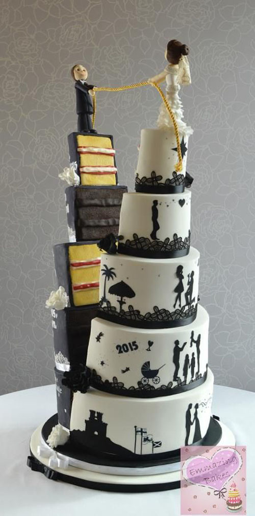 adorable and amazing wedding cake