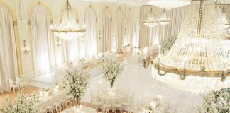 luxury white wedding concept
