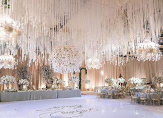 white luxury wedding decor
