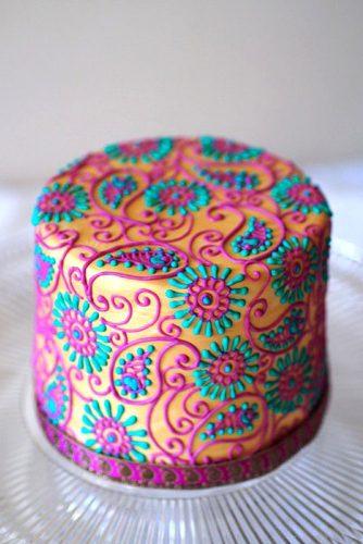colorful mini wedding cake