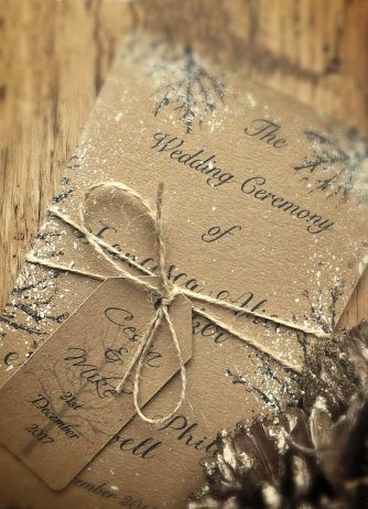 elegant winter wedding invitations ideas