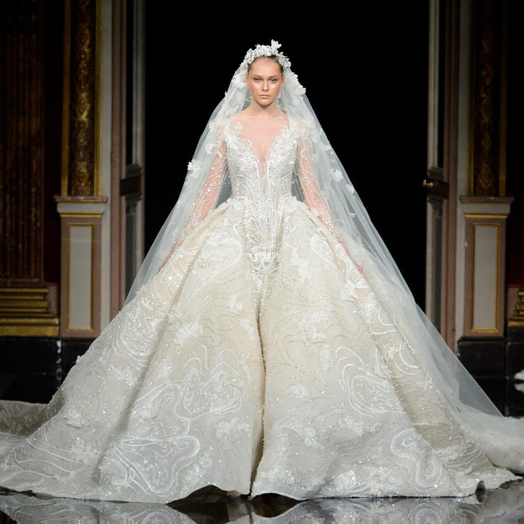 elegant white wedding gown