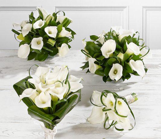 white calla lily wedding bouquets