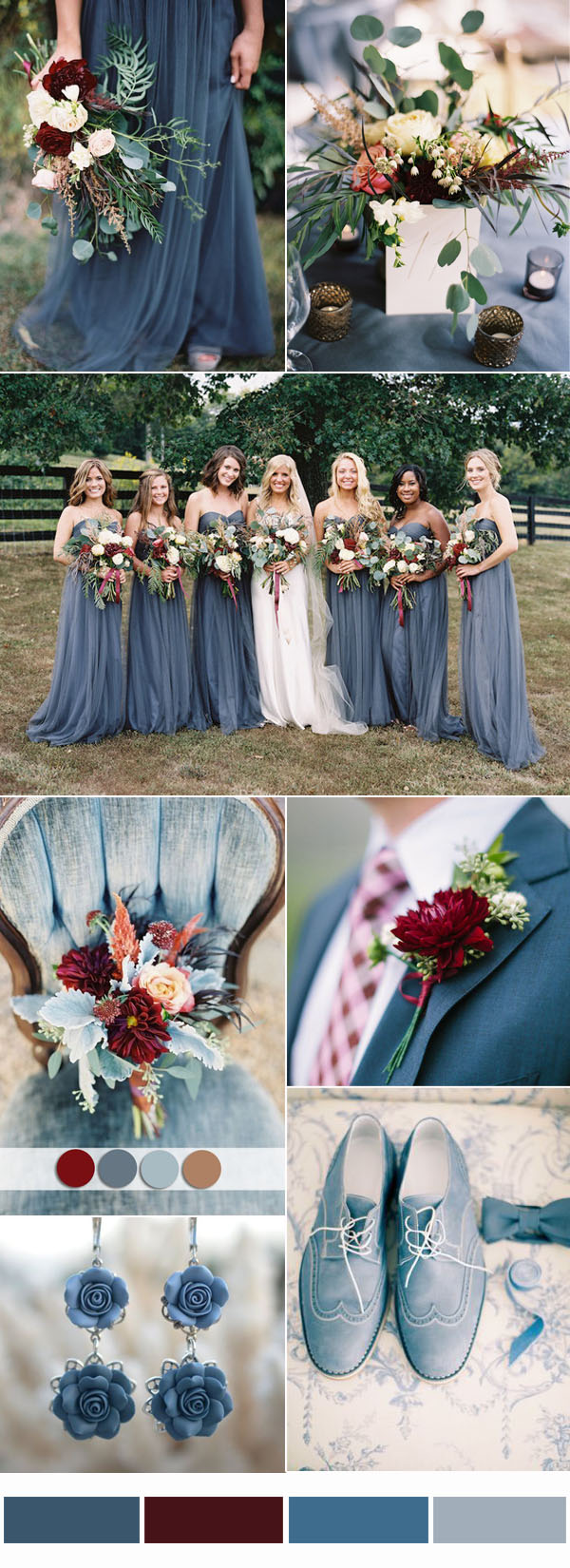 dusty-blue-and-burgundy-Wedding-Color-Combo-Ideas