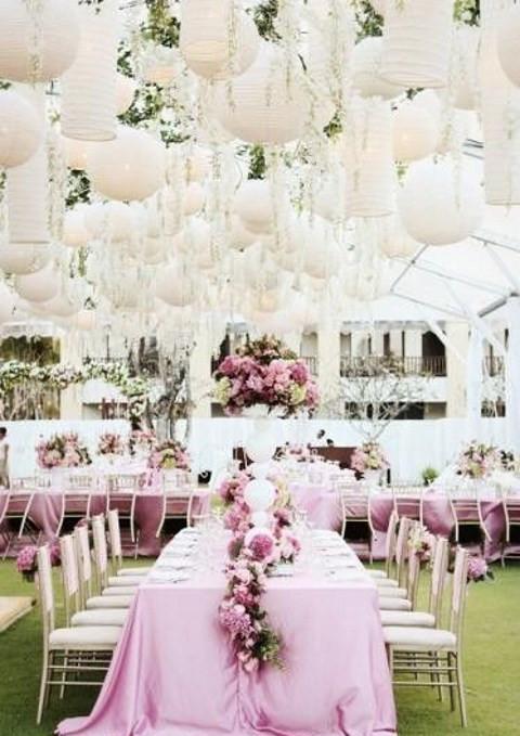 soft pink wedding decor