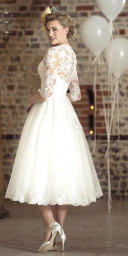 vintage tea-length wedding dress