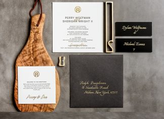 striking wedding invitation