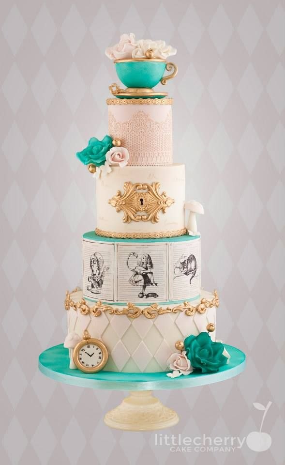 charming blue cake