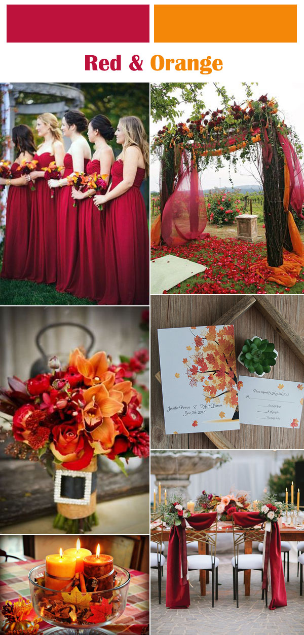 vibrant-red-and-orange-fall-wedding-color-ideas