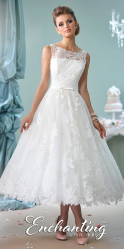 vintage tea-length model dress