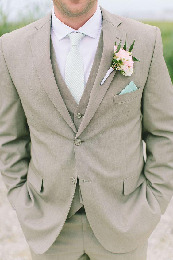 beige men wedding dress