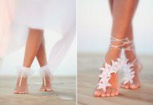 gorgeous wedding barefoot sandals