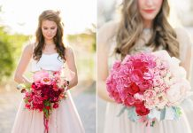 beautiful ombre wedding bouquet