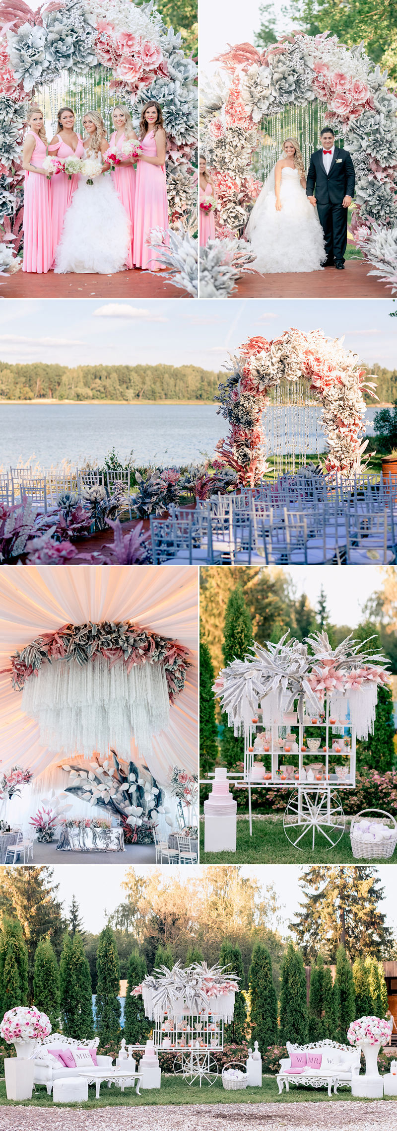 rustic floral pink wedding theme