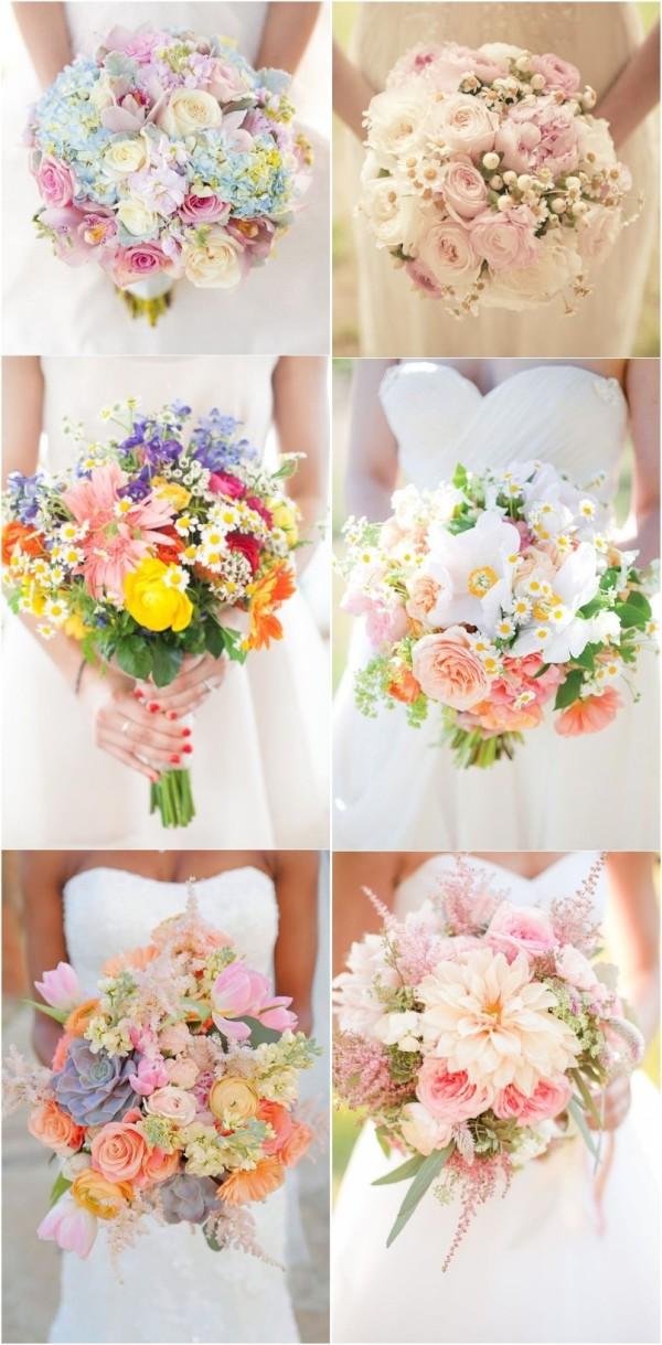 spring wedding bouquet ideas