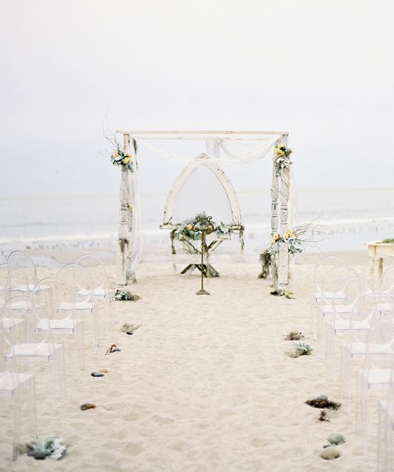 white beach wedding design
