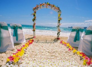 best beach wedding aisle decoration
