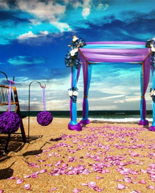 beautiful beach wedding aisle