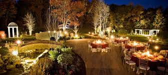 beautiful night outdoor wedding