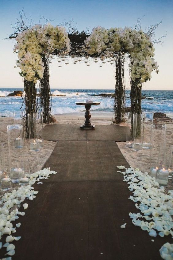 awesome white wedding beach