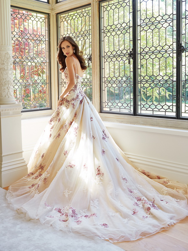 beautiful gown with a floral