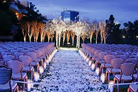 violet wedding outdoor design