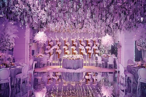 Luxury wedding reception with a perfect and awesome decoration ideas purple wedding decoration ideas junglespirit Images