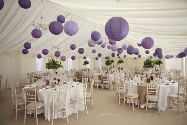 white vintage wedding with lantern