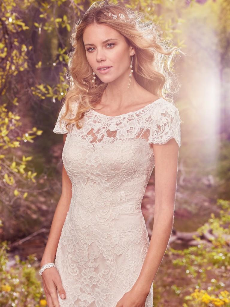 romantic white wedding dress