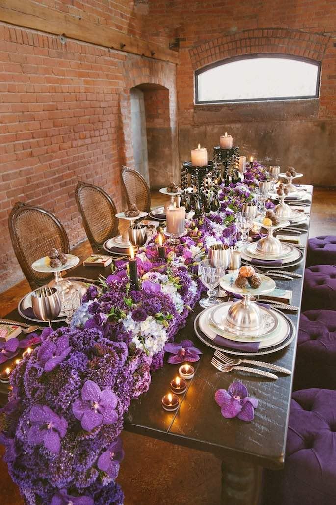 purple wedding concept