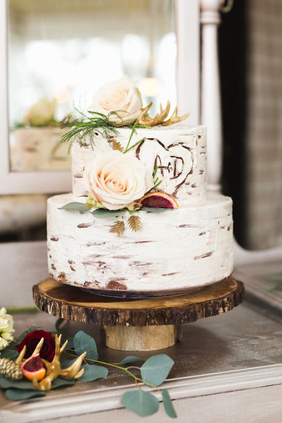 Rustic-Birch-Wedding-Cake