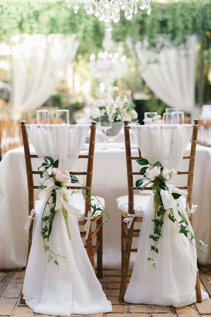 white chair decoration