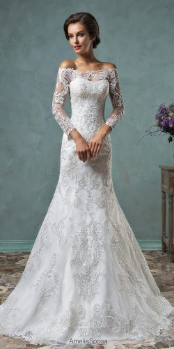 beautiful white long sleeve gown