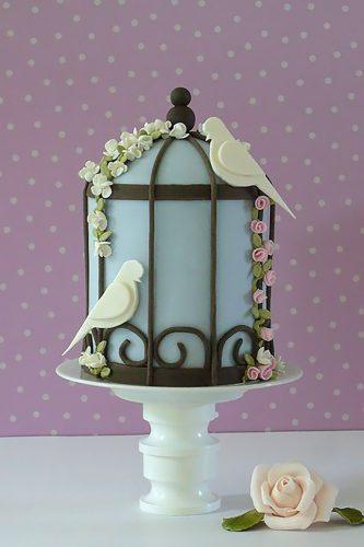 blue birdcage cakes