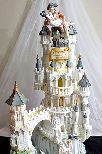 wedding castle cake design