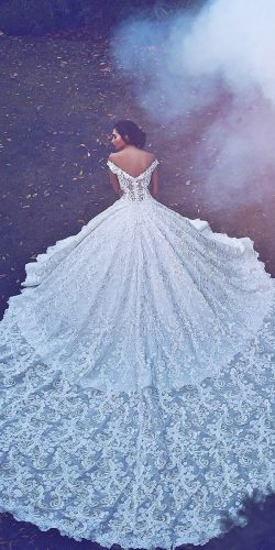 white ball bridal wedding dress