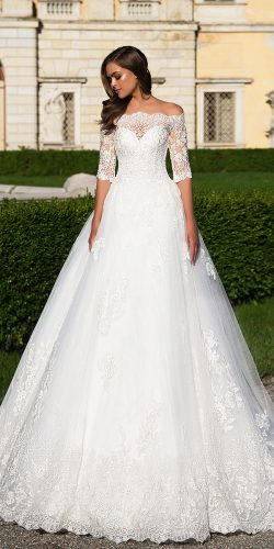 white ball wedding dress