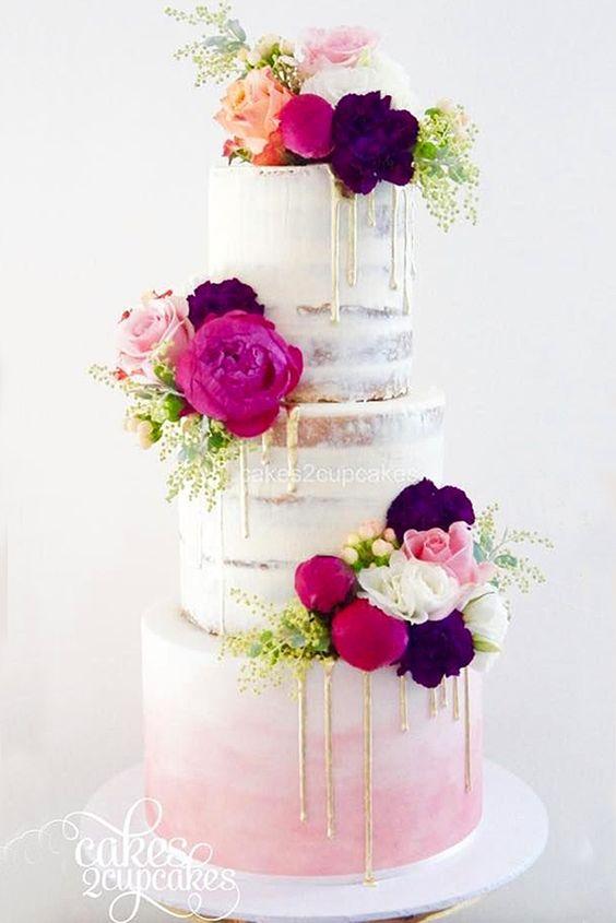 chic wedding cake model